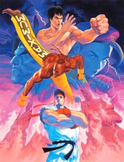 """Super Street Fighter II – The New Challengers"" artwork"